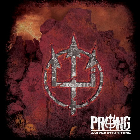 prong carved into stone
