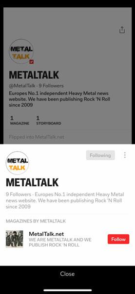 MetalTalk on Flipbaord
