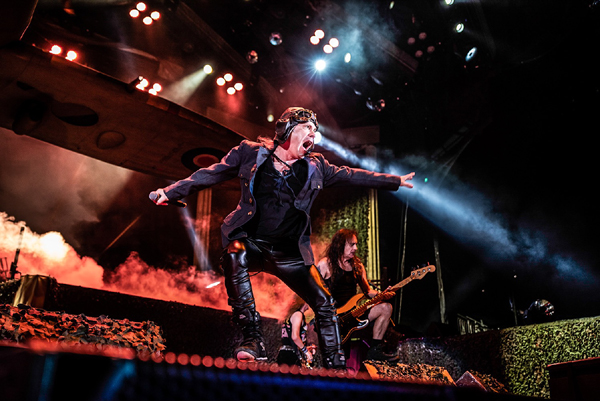 IRON MAIDEN RELEASE THE FIRE AND THE FORCE IN LOS ANGELES