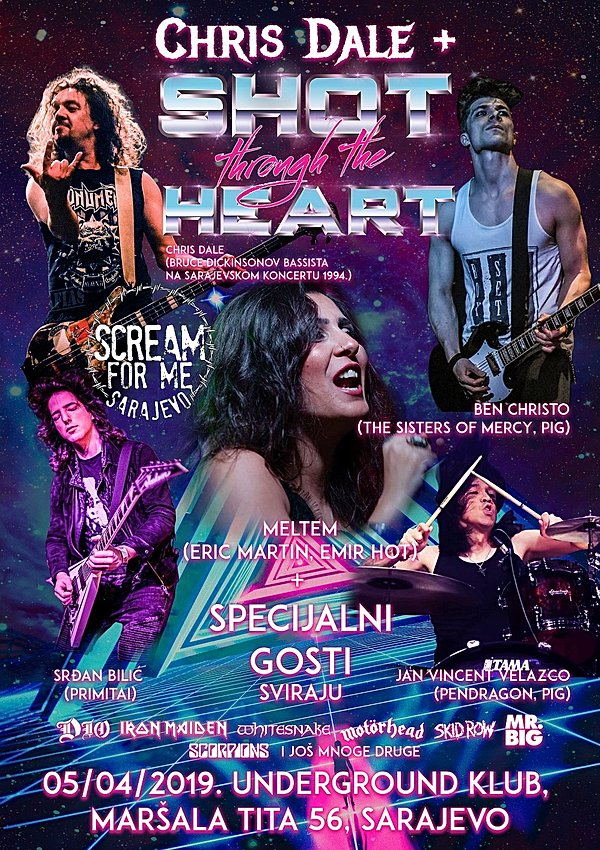 SARAJEVO TO SCREAM AGAIN AS CHRIS DALE MAKES APRIL RETURN WITH SHOT THROUGH THE HEART | MetalTalk