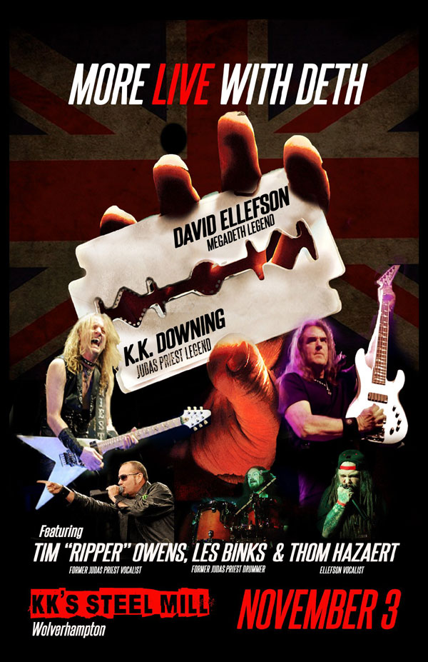 KK DOWNING, LES BINKS AND TIM 'RIPPER' OWENS TO PERFORM FULL-LENGTH SET OF JUDAS PRIEST CLASSICS