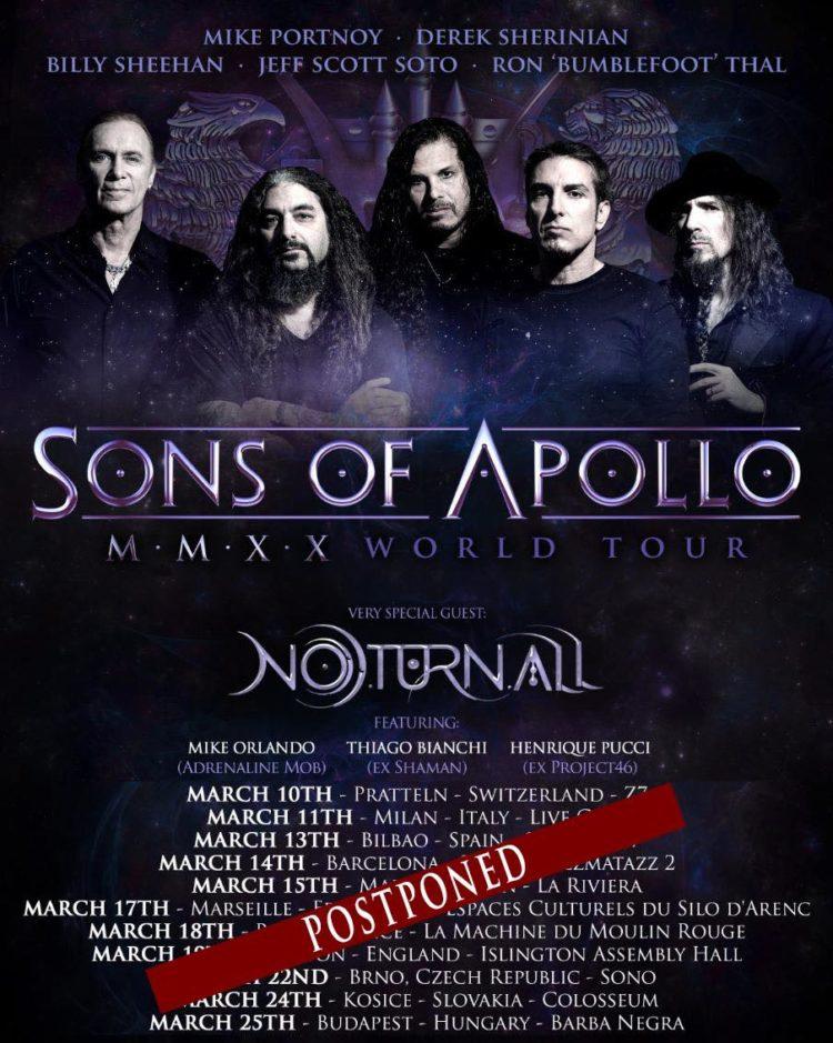 Sons Of Apollo cancel European Tour