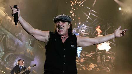 Photo of , AC/DC singer.
