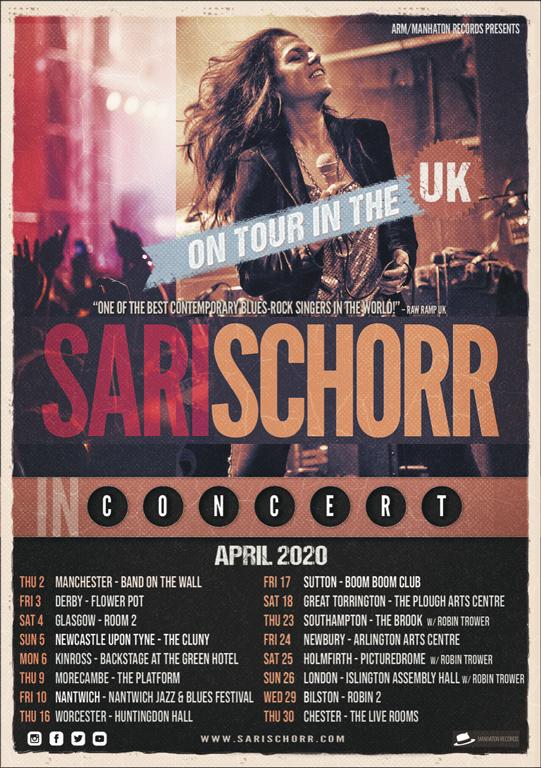 Sari Schorr Live Tour 2020
