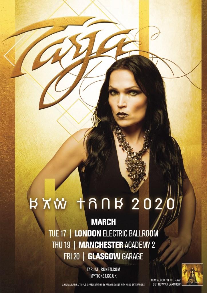 Tarja - UK Dates imminent.
