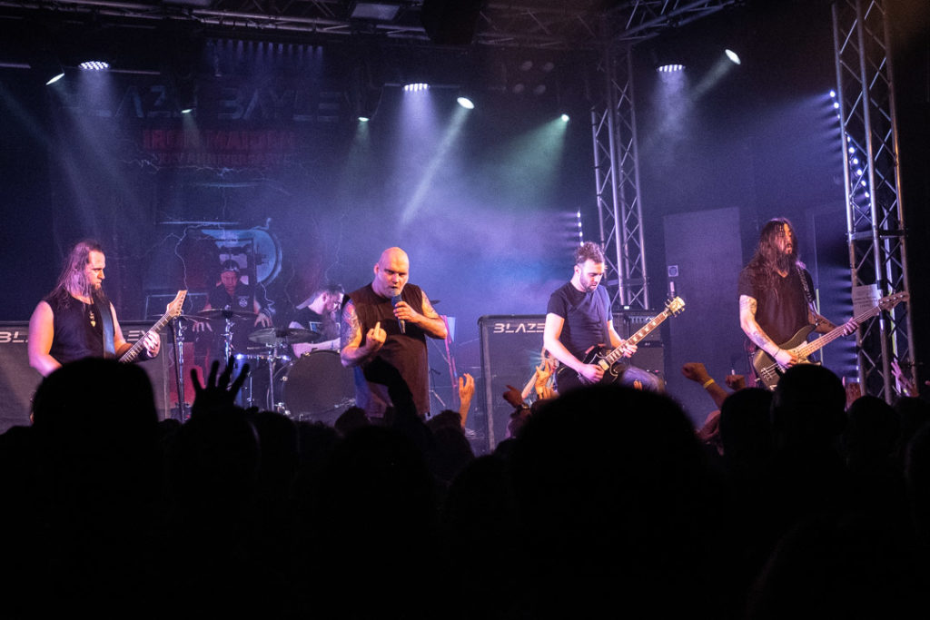 Blaze Bayley, on stage at Burr Fest 2020. The Dome, Tufnell Park.