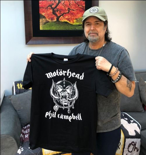 Phil Campbell with Motorhead tShirt