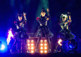 Babymetal on stage at Wembley Arena