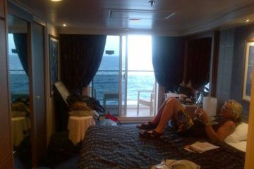 Brian Vollmer of Helix in Monsters of Rock Cruise cabin