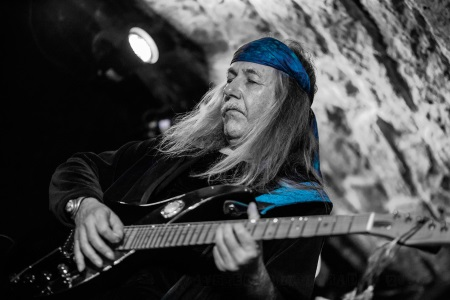 Uli Jon Roth, on stage at Bannermans in Edinburgh