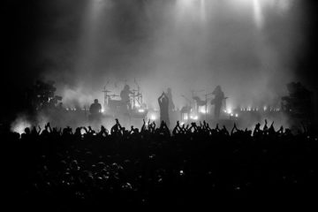 Photo of Nine Inch Nails on stage
