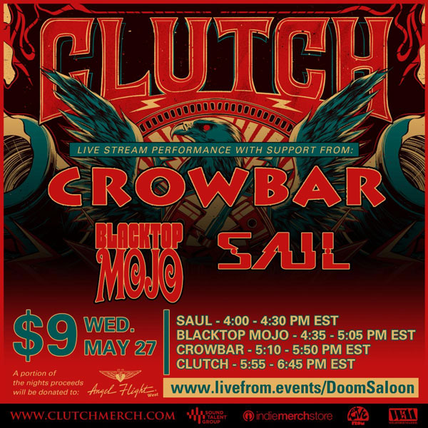 Clutch announce live stream gig