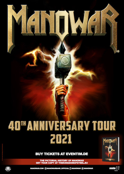 Manowar 2021 Tour Poster May 2020