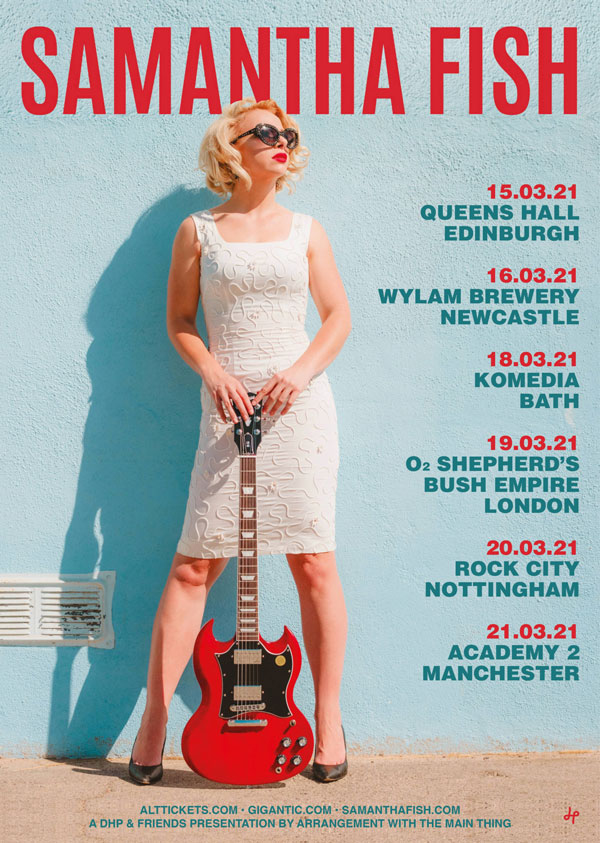 Samantha Fish UK Tour dates March 2021