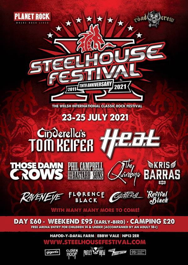 Poster for the rescheduled Steelhouse Festival