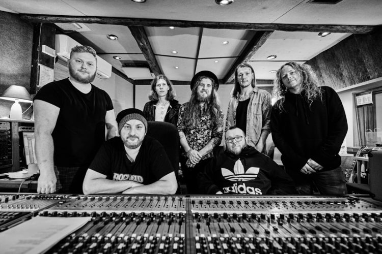 Photo of Bad Touch from the recording studio
