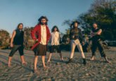 Photo of the band Alestorm, who have released Curse of the Crystal Coconut