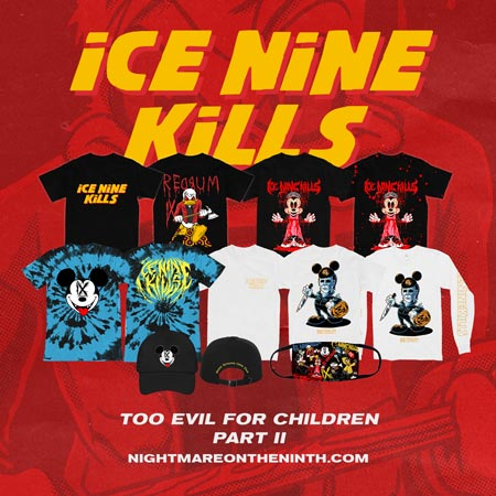 Merchandise from the band Ice Nine Kills