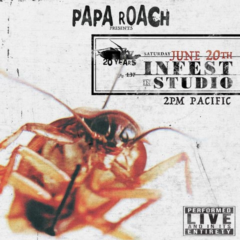 Poster for Papa Roach live stream concert