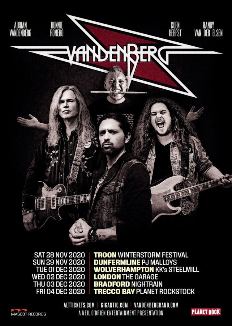 Vandenberg Tour poster 2020