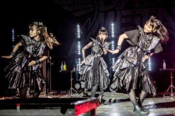 Babymetal on stage at the Brixton Academy 2019
