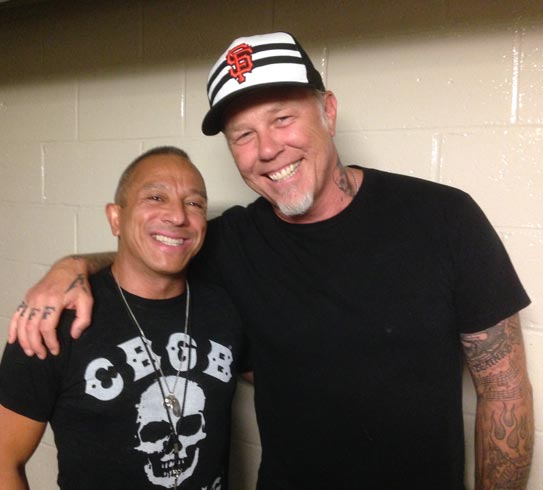 Photo of James Hetfield and Michael Alago 2015
