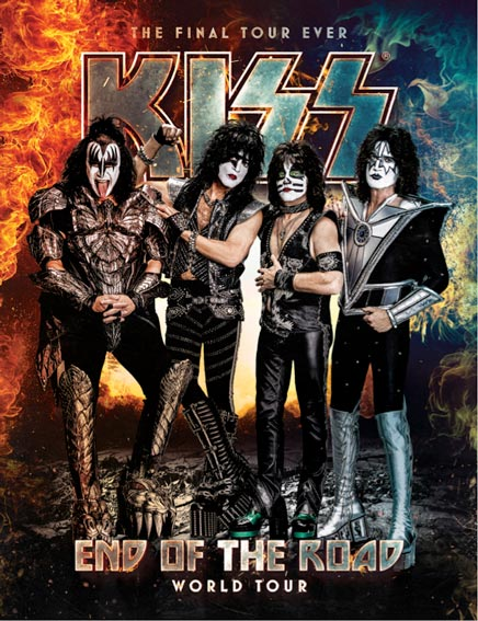 Kiss The End Of The Road tour poster