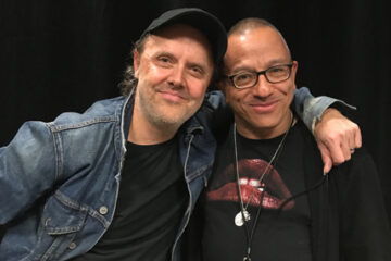 Photo of Michael Alago and Lars Ulrich 2017
