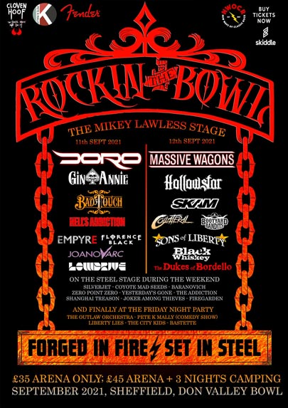 Line up for Rockin' The Bowl 2021