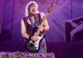 Adrian Smith, on stage with Iron Maiden. London O2 Arena. Legacy Of The Beast Tour