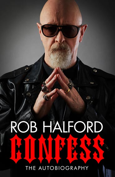 Cover of Rob Halford autobiography 'Confess'