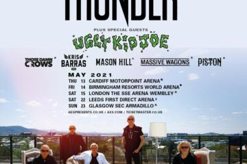 Thunder 2021 UK Tour Date poster