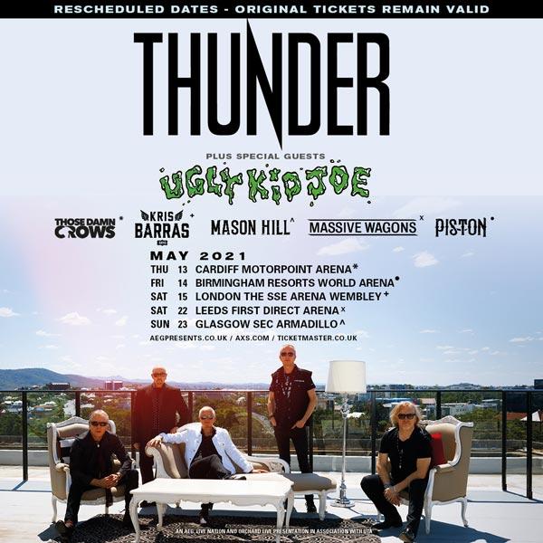 Thunder 2021 UK Tour Date poster