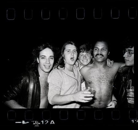Fin Muir, Tonka Chapman, Mark Putterford, John Conteh and a young Phil Alexander