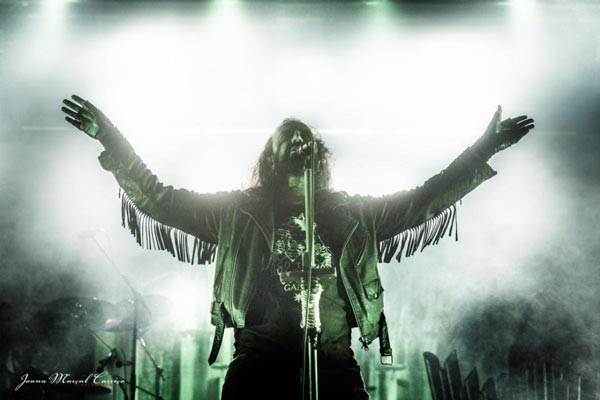 Moonspell live on stage in Portugal