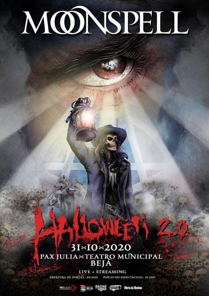 Moonspell Halloween 2.0 show poster