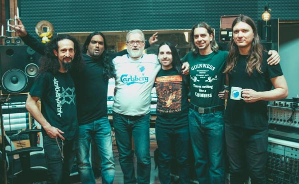 Photo of the band Neuronspoiler with Flemming Rasmussen
