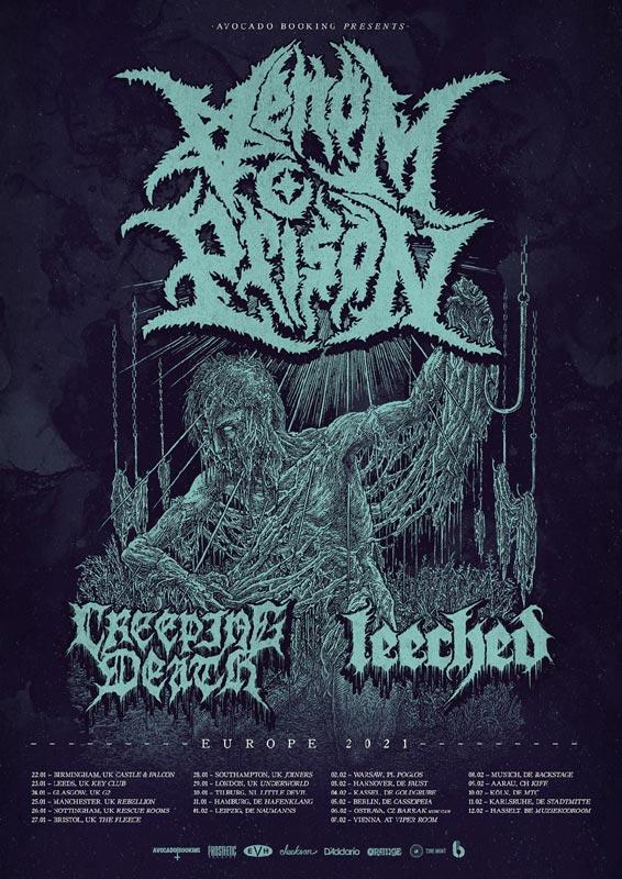 Venom Prison 2021 Tour Poster