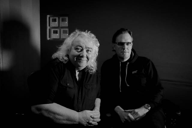 Bernie Marsden and Joe Bonamassa at Abbey Road Studios_photo by Christie Goodwin