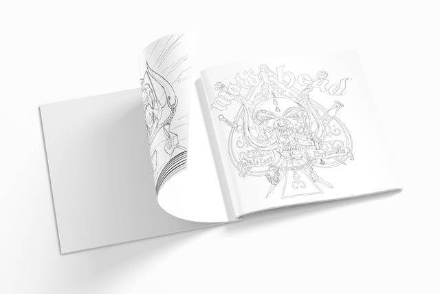 Motorhead Rock N' Roll Colouring book