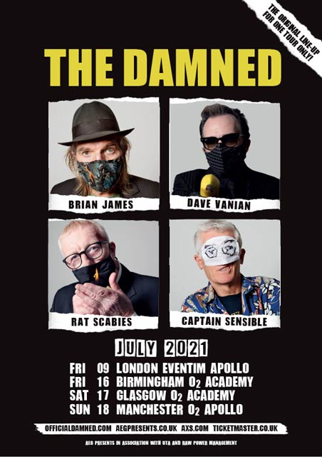 The Damned Tour Poster