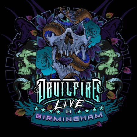 Devilfire album cover of 'Live In Birmingham'