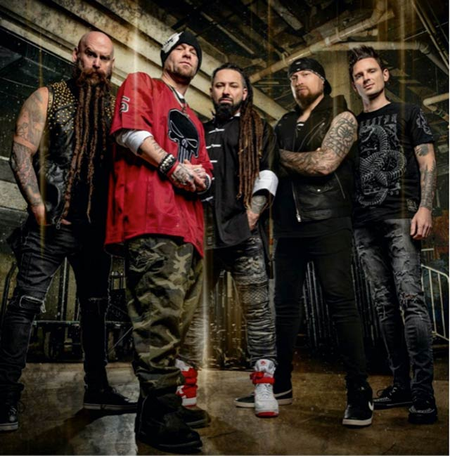 Photo of the ne Five Finger Death Punch lineup