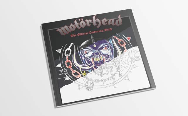 Motorhead - Photo of Rock N' Roll Colouring books