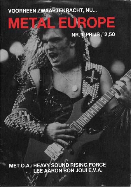 Photo of the cover of Dutch magazine 'Metal Europe'