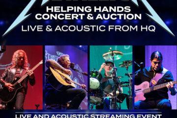 Metallica live acoustic show poster