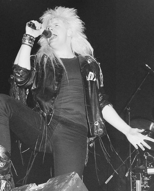 Shy at IJsselhal, Zwolle, The Netherlands on April 4th, 1987.
