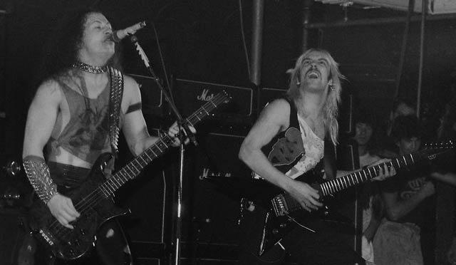 Venom at Paradiso, Amsterdam, The Netherlands on October 28th, 1985.