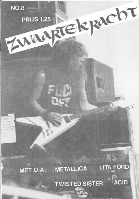 Cover fo Zwaartekracht with James Hetfield from Metallica