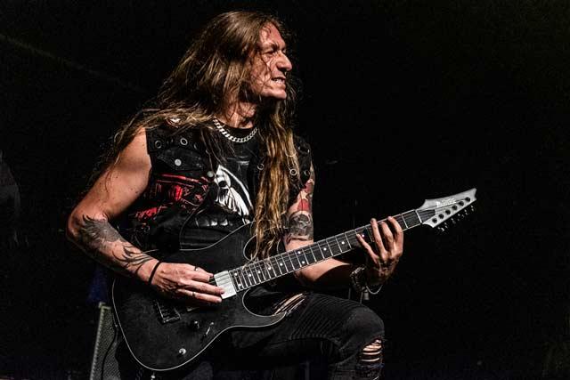 Photo of Ellefson guitarist Andy Martongelli